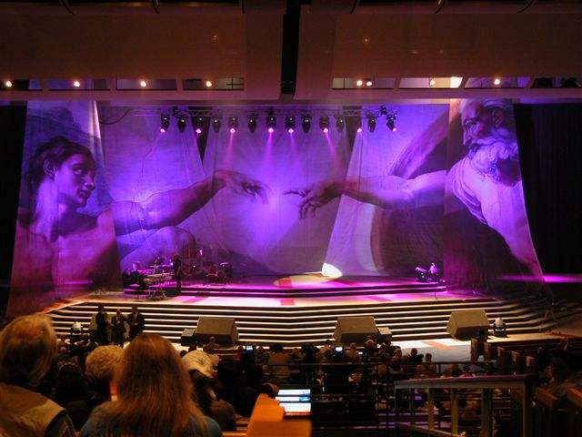 Stage curtains fabric - Digitally Printed Backdrop To Set The Stage For Your Worship Services