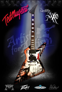 Ted Nugent Battle Axe Guitar