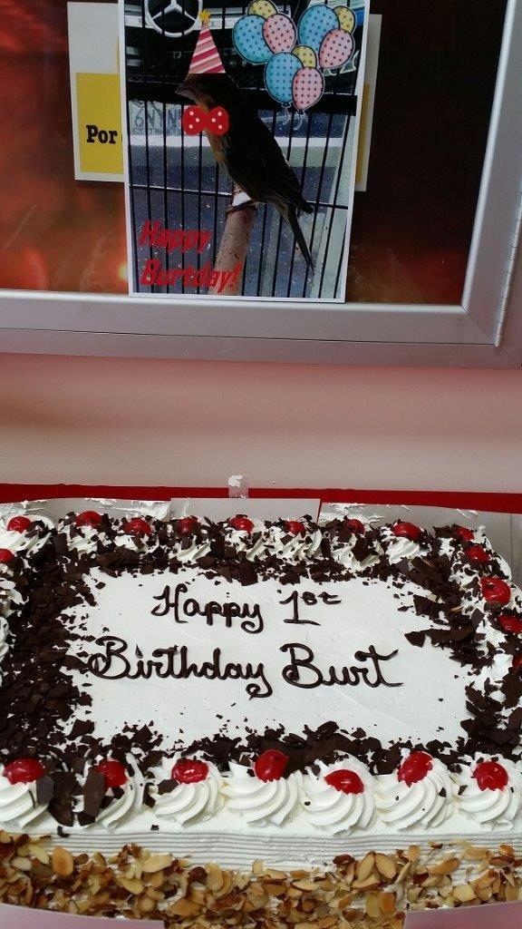 Burt's birthday
