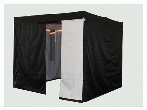 Mobile Dressing Room : Pop up portable dressing rooms offer privacy while on tour
