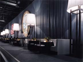 Sew What? Inauguration, special event, commando, portable, temporary curtains, curtain draperies