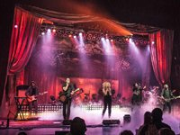 Sew What? stage drapes for Little Big Town