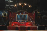 Sew What? Kid Rock, stage curtains, stage drapes, theatrical drapery, theatrical curtains, stage backdrops