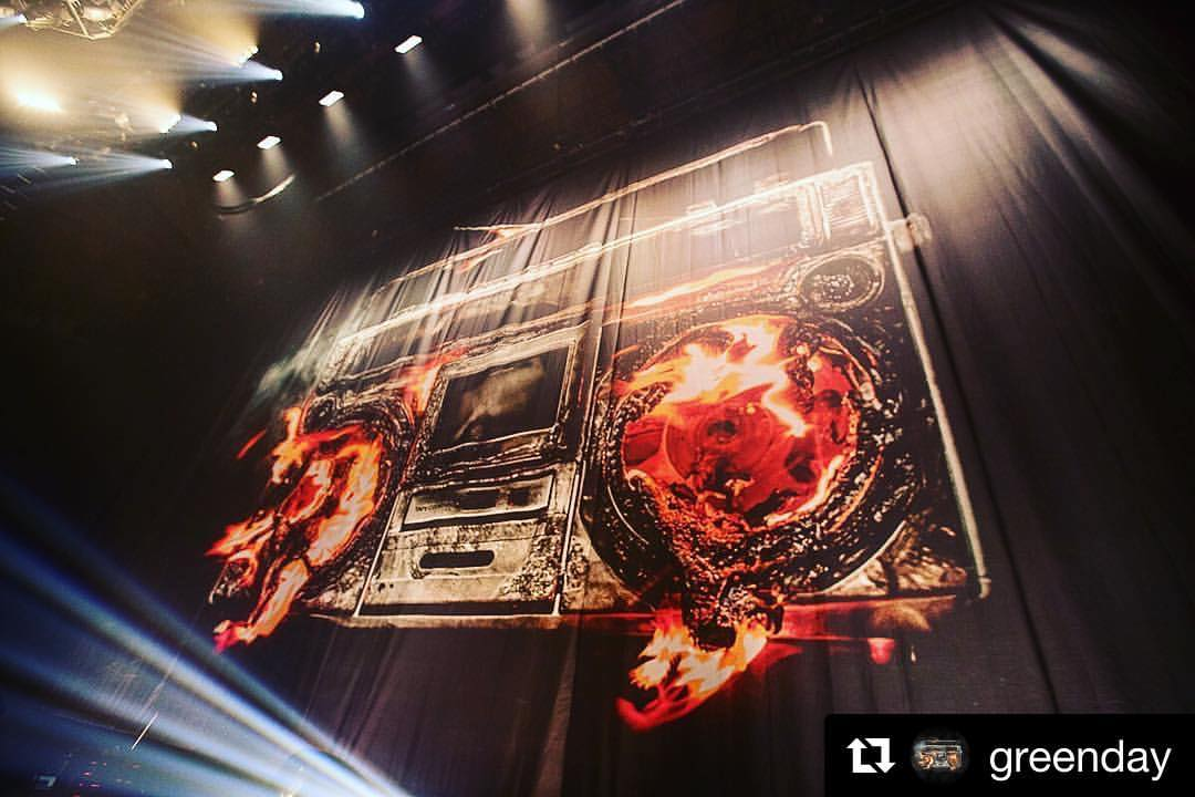 Sew What? Inc. Provides Custom Stage Drapery for Green Day 2016-17 Revolution Radio Tour